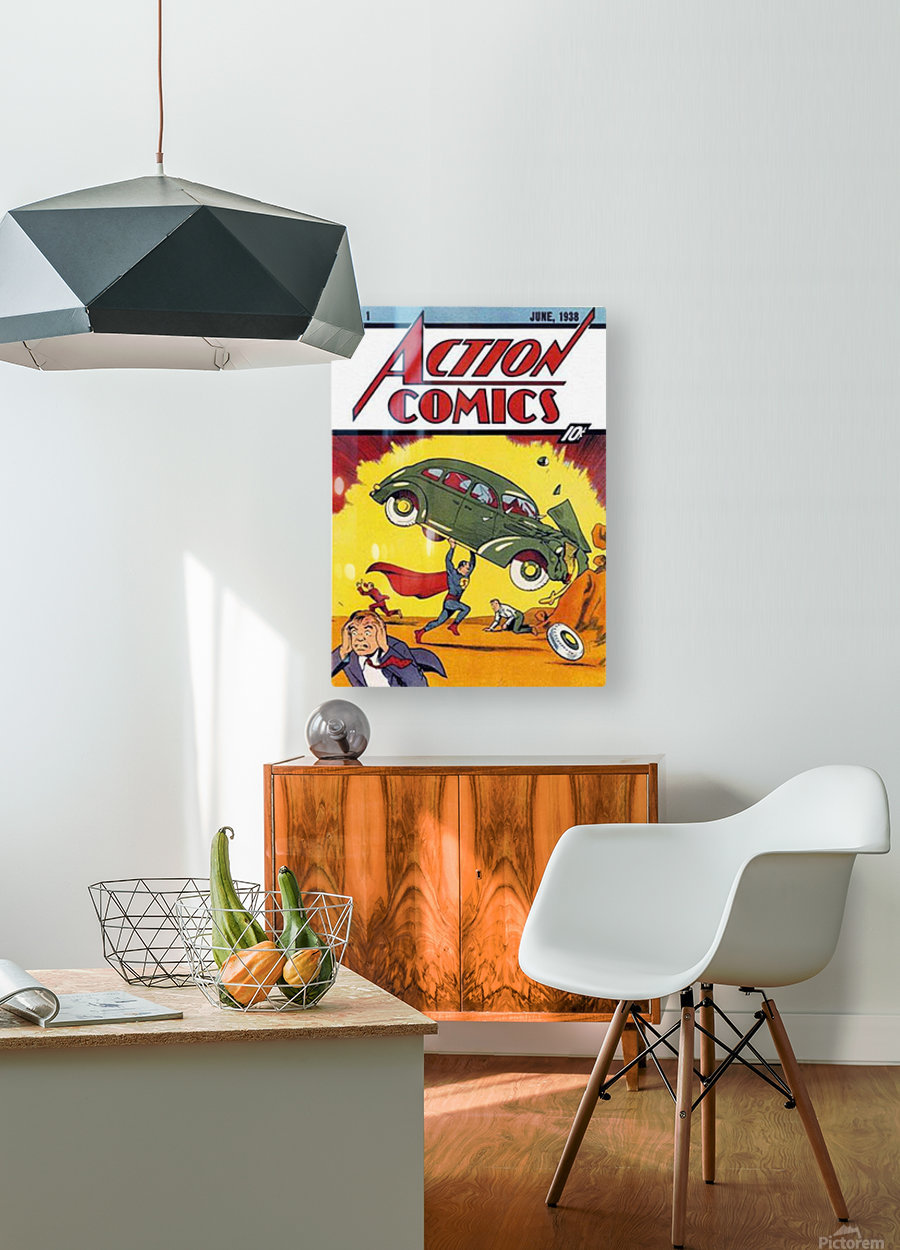 Action Comics  HD Metal print with Floating Frame on Back