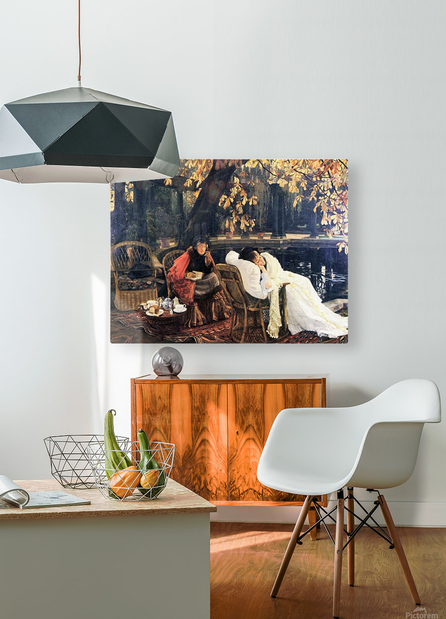 The end by Tissot  HD Metal print with Floating Frame on Back