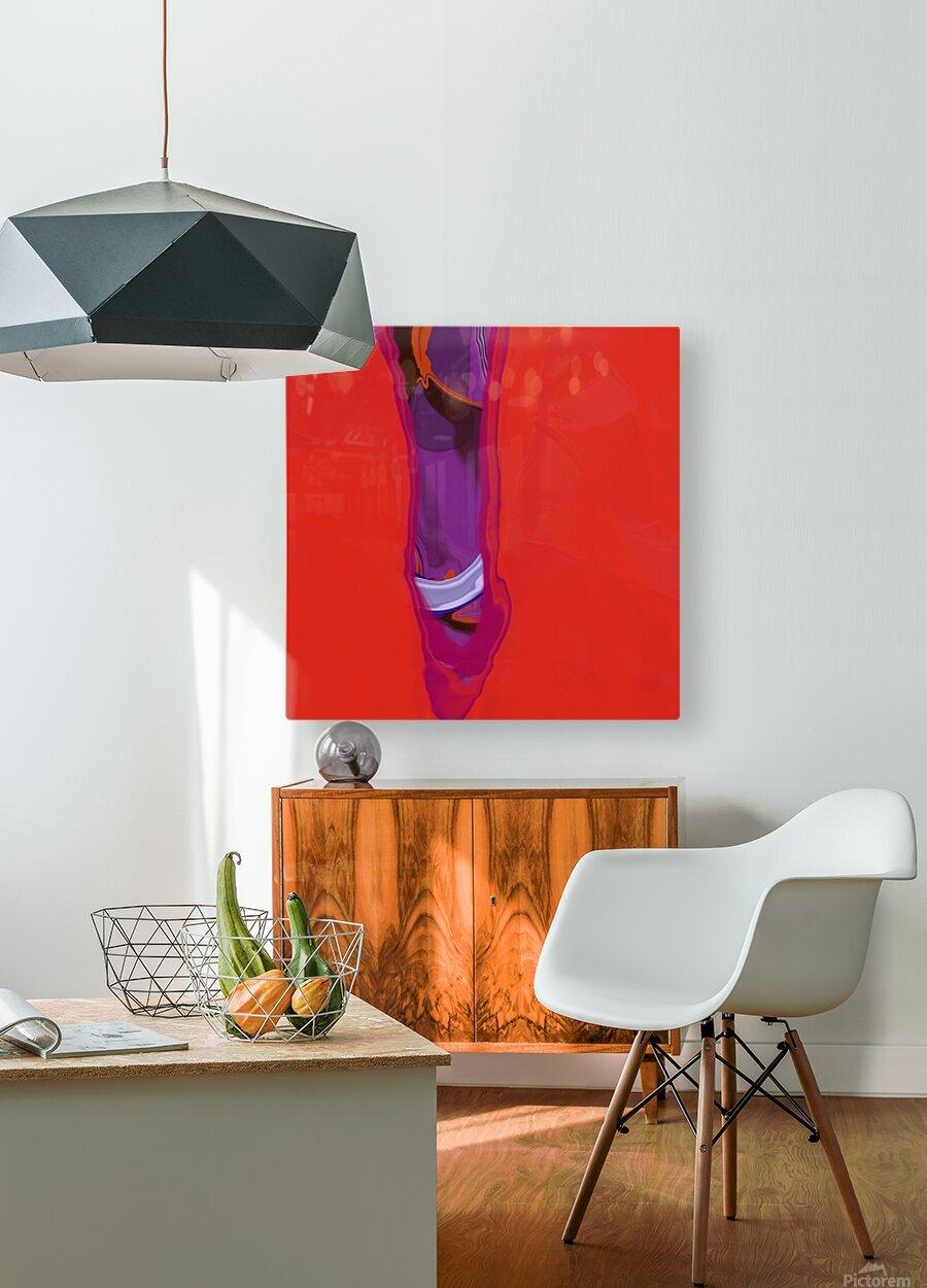 Violet Shape  HD Metal print with Floating Frame on Back