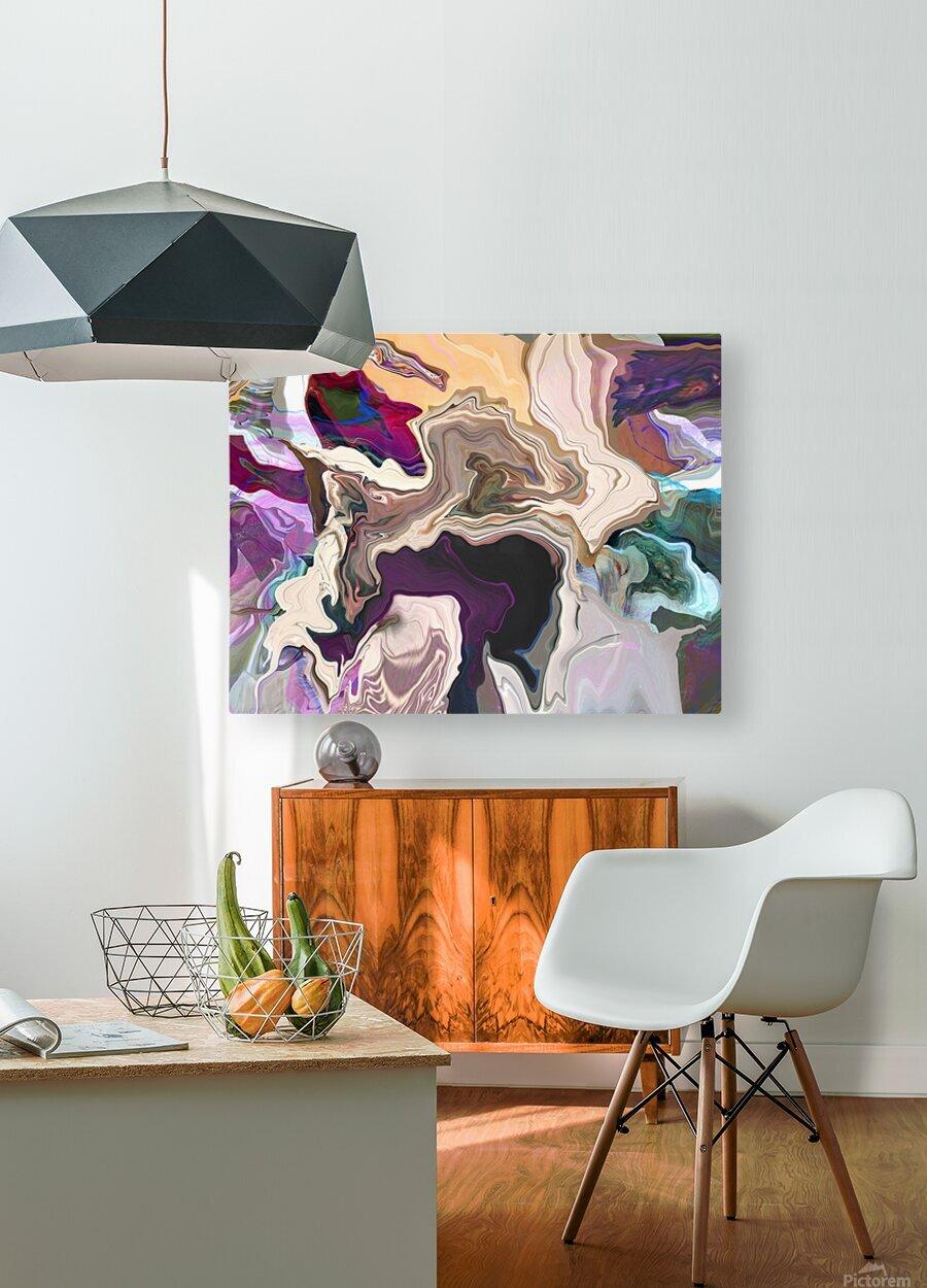 Geode Inside  HD Metal print with Floating Frame on Back