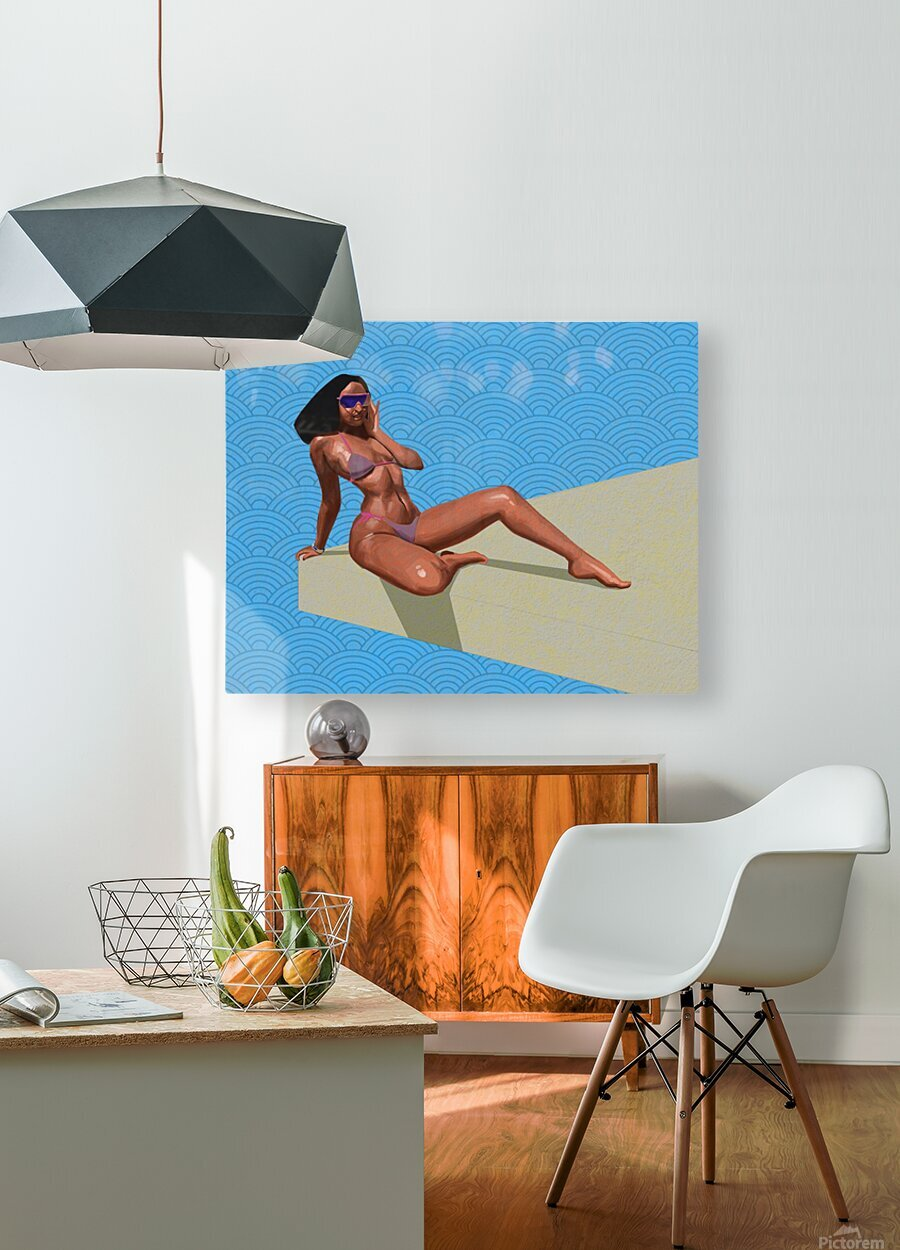 Sunbather  HD Metal print with Floating Frame on Back