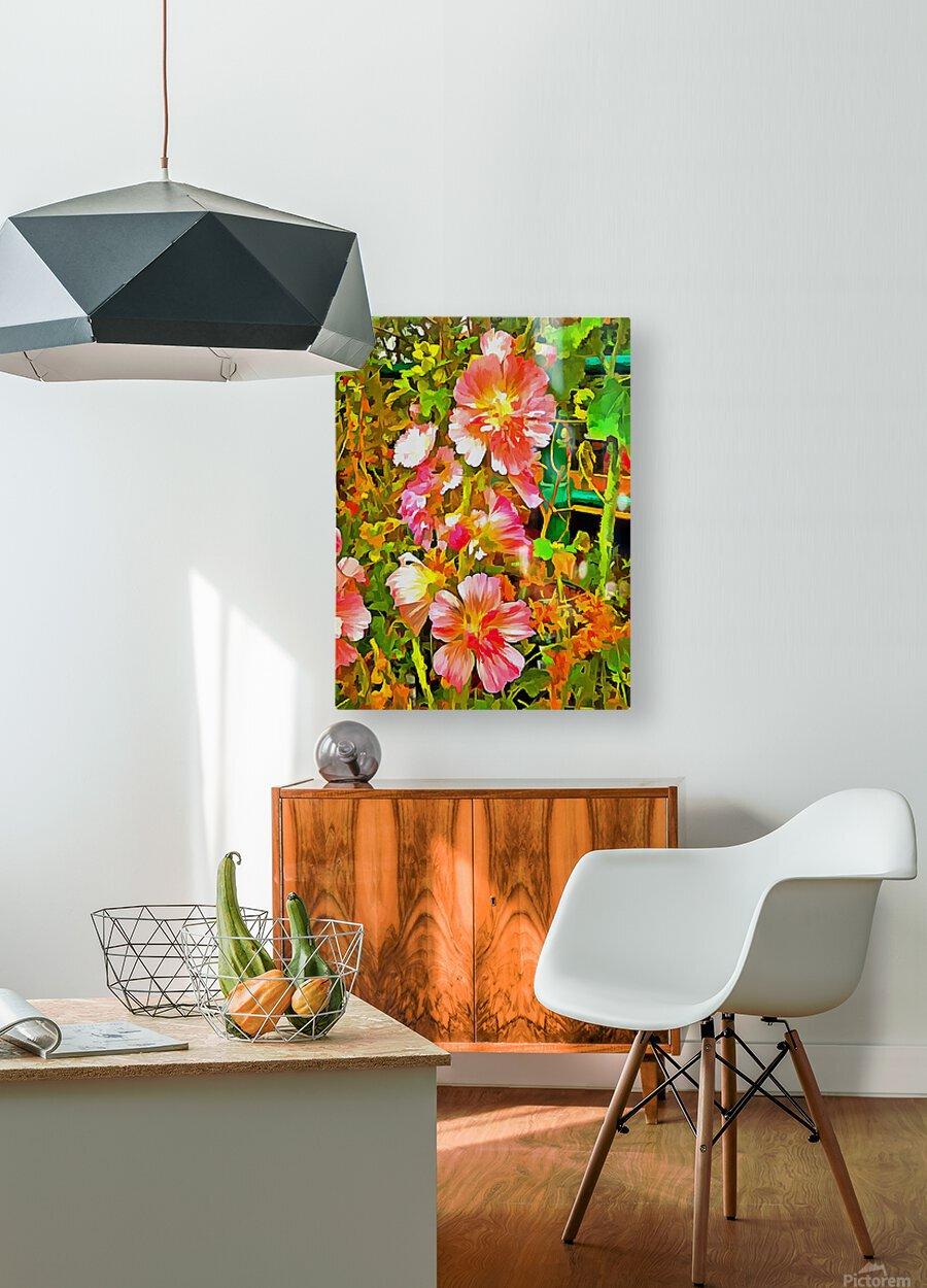 Penstemon Pop Art Style  HD Metal print with Floating Frame on Back