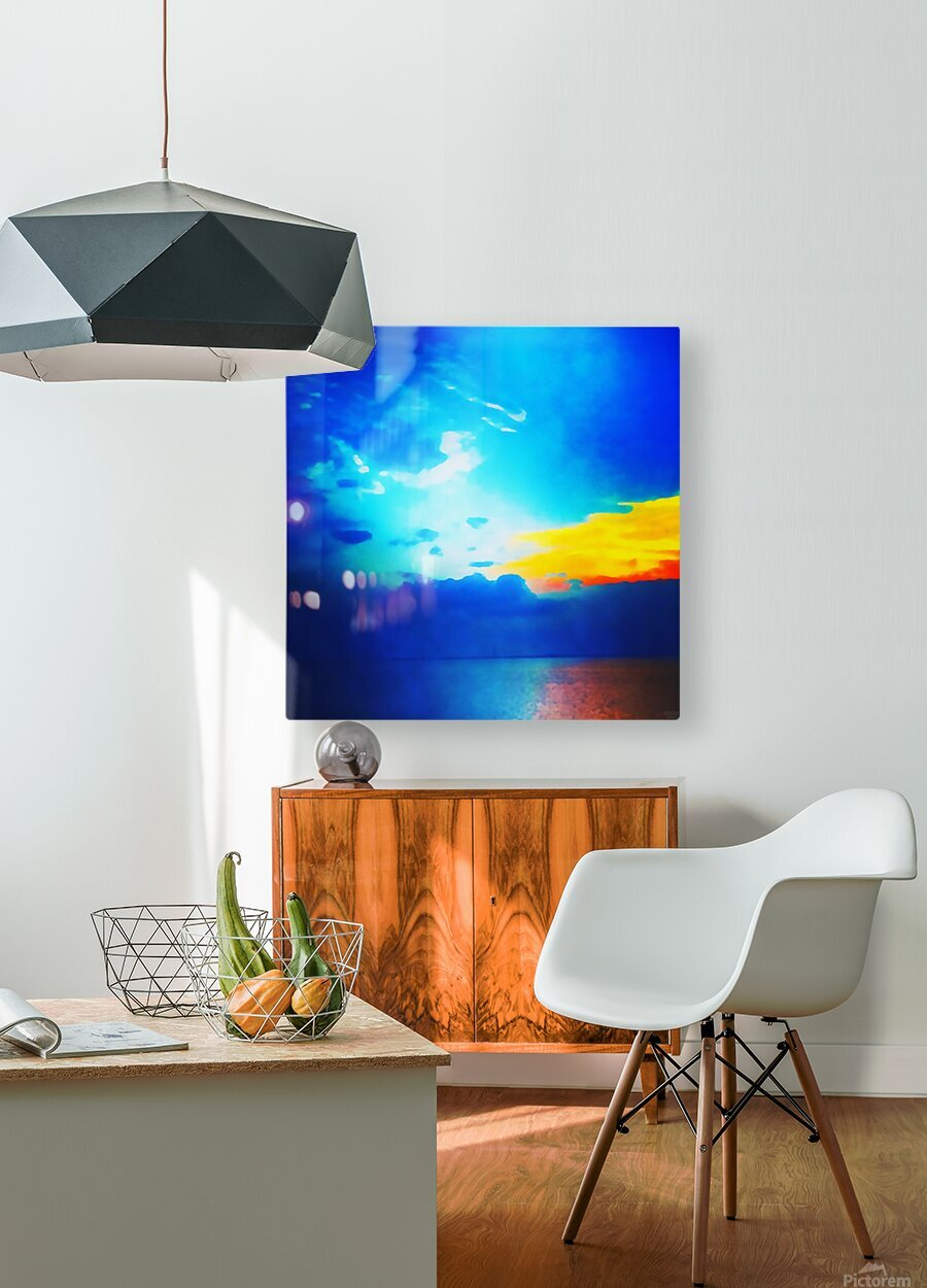 blue yellow magic  HD Metal print with Floating Frame on Back