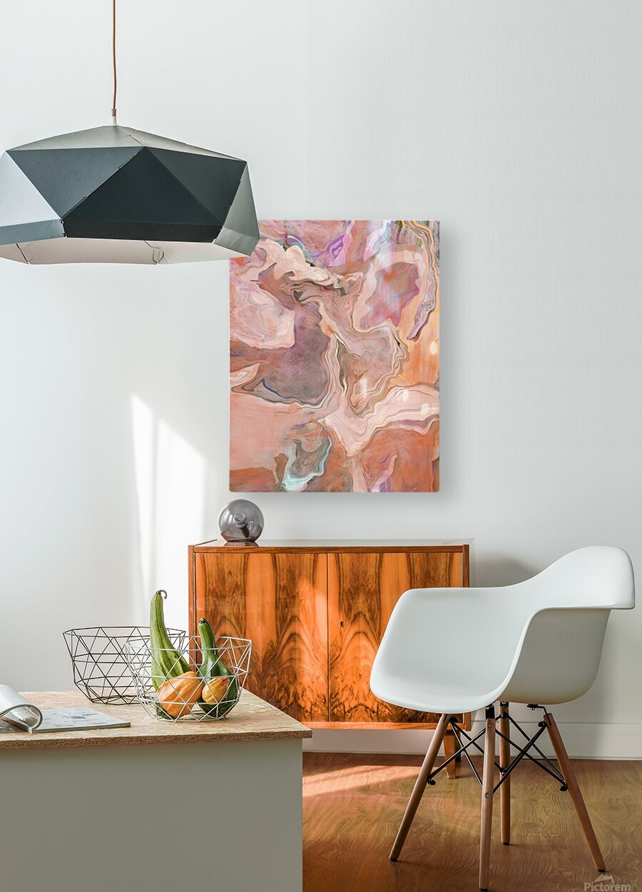 Patterns in Mauve and Orange  HD Metal print with Floating Frame on Back