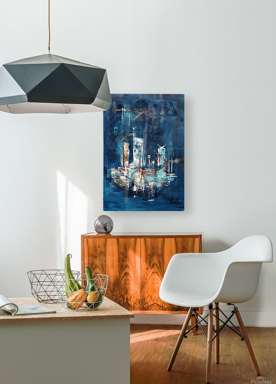 Uptown starry night II  HD Metal print with Floating Frame on Back