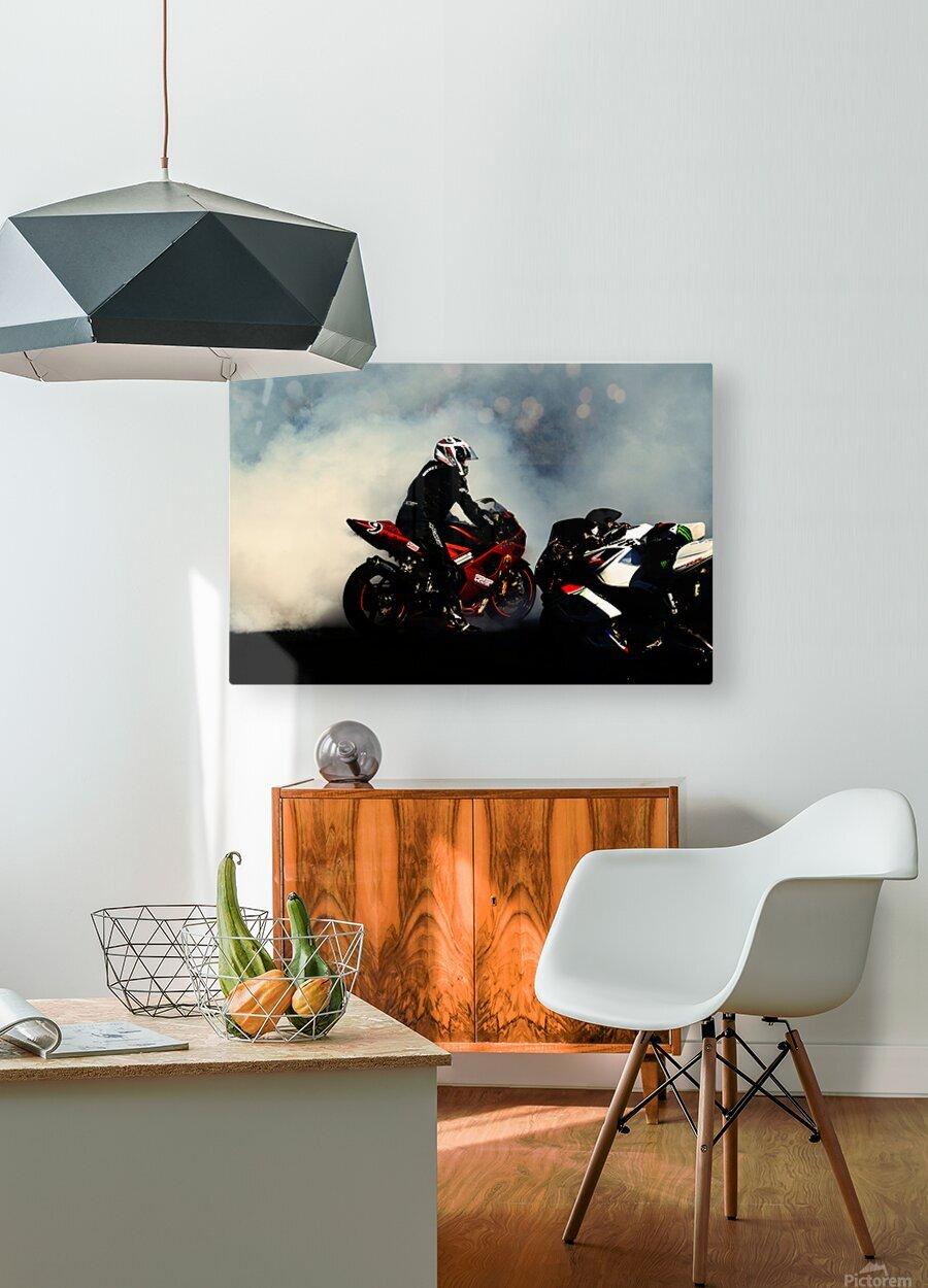Holy smoke  Impression métal HD avec cadre flottant sur le dos
