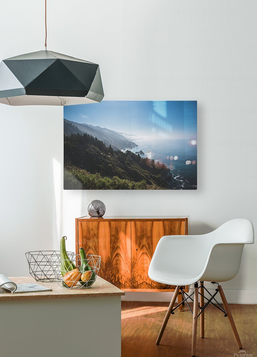Big Sur California  HD Metal print with Floating Frame on Back