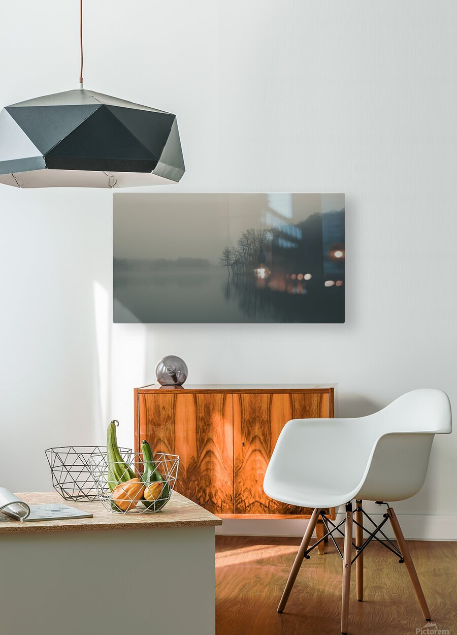 Fog and Peace  HD Metal print with Floating Frame on Back