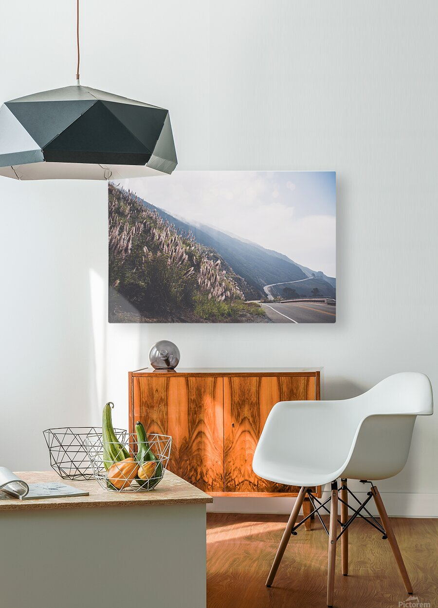 Pacific Coast Highway  HD Metal print with Floating Frame on Back