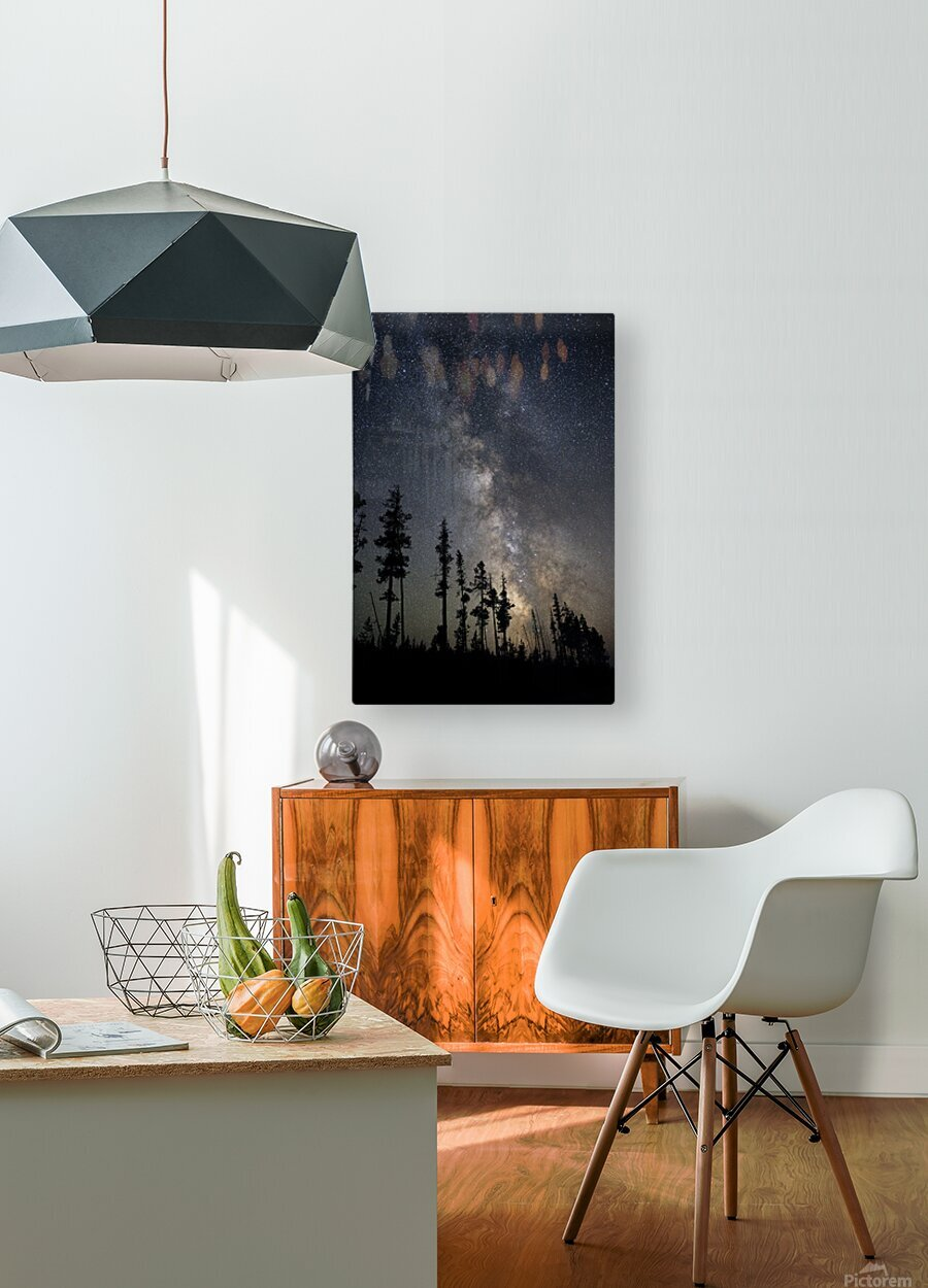 Yellowstone Milky Way  HD Metal print with Floating Frame on Back