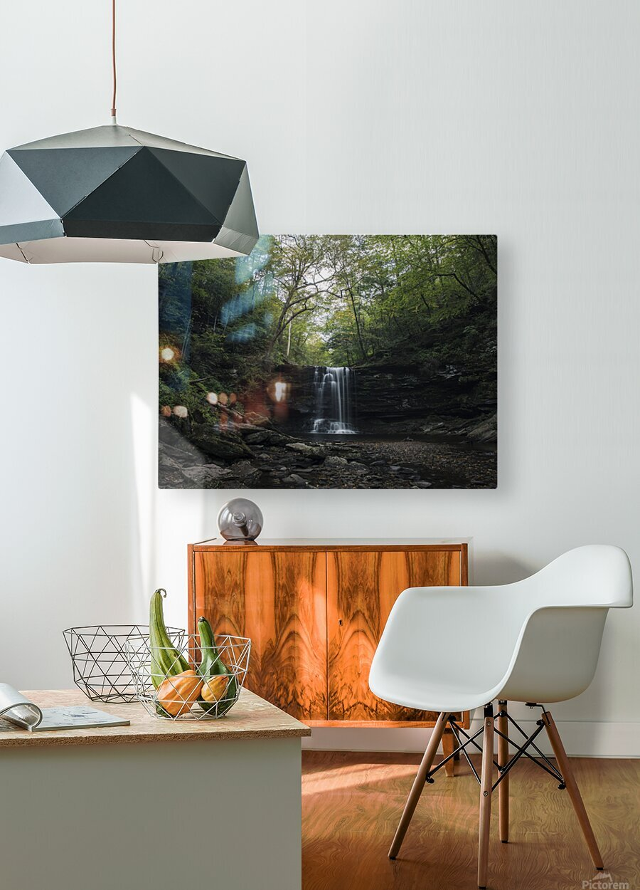 Harrison Wright Falls  HD Metal print with Floating Frame on Back