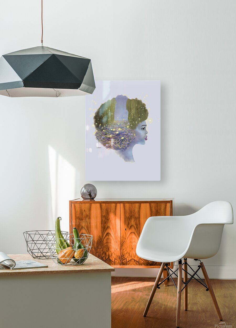 Weeping Willow  HD Metal print with Floating Frame on Back