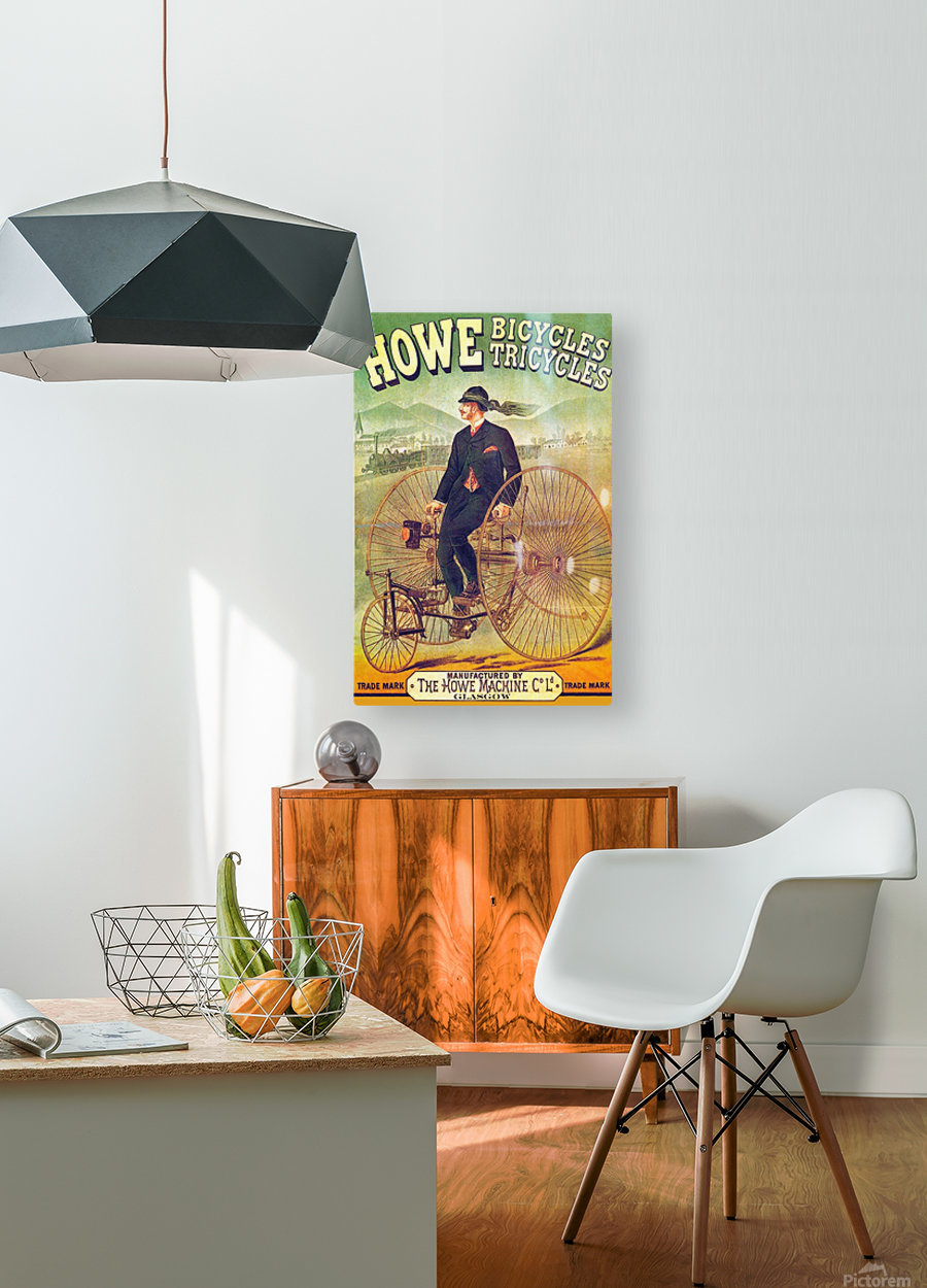 Howe Bicycles  HD Metal print with Floating Frame on Back
