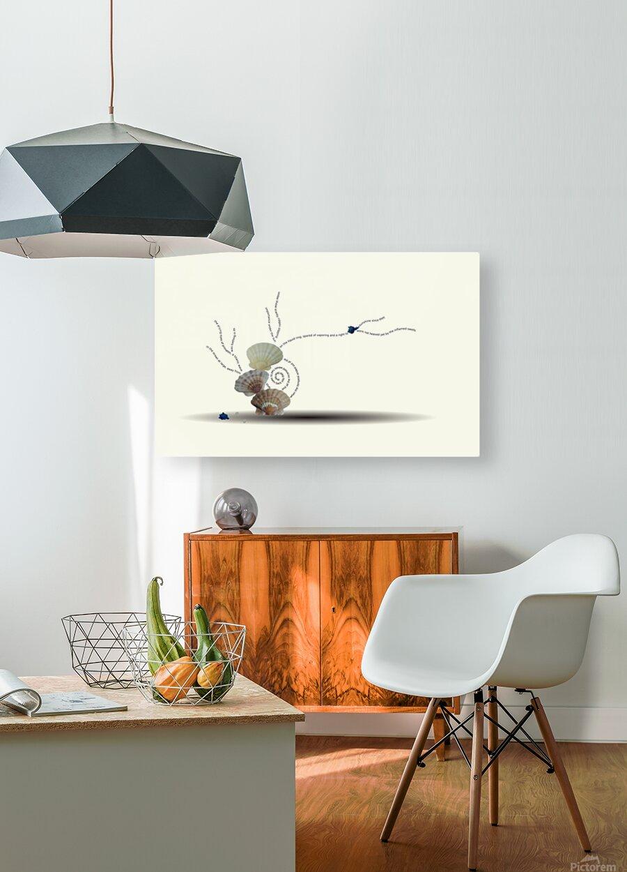Incensed  HD Metal print with Floating Frame on Back
