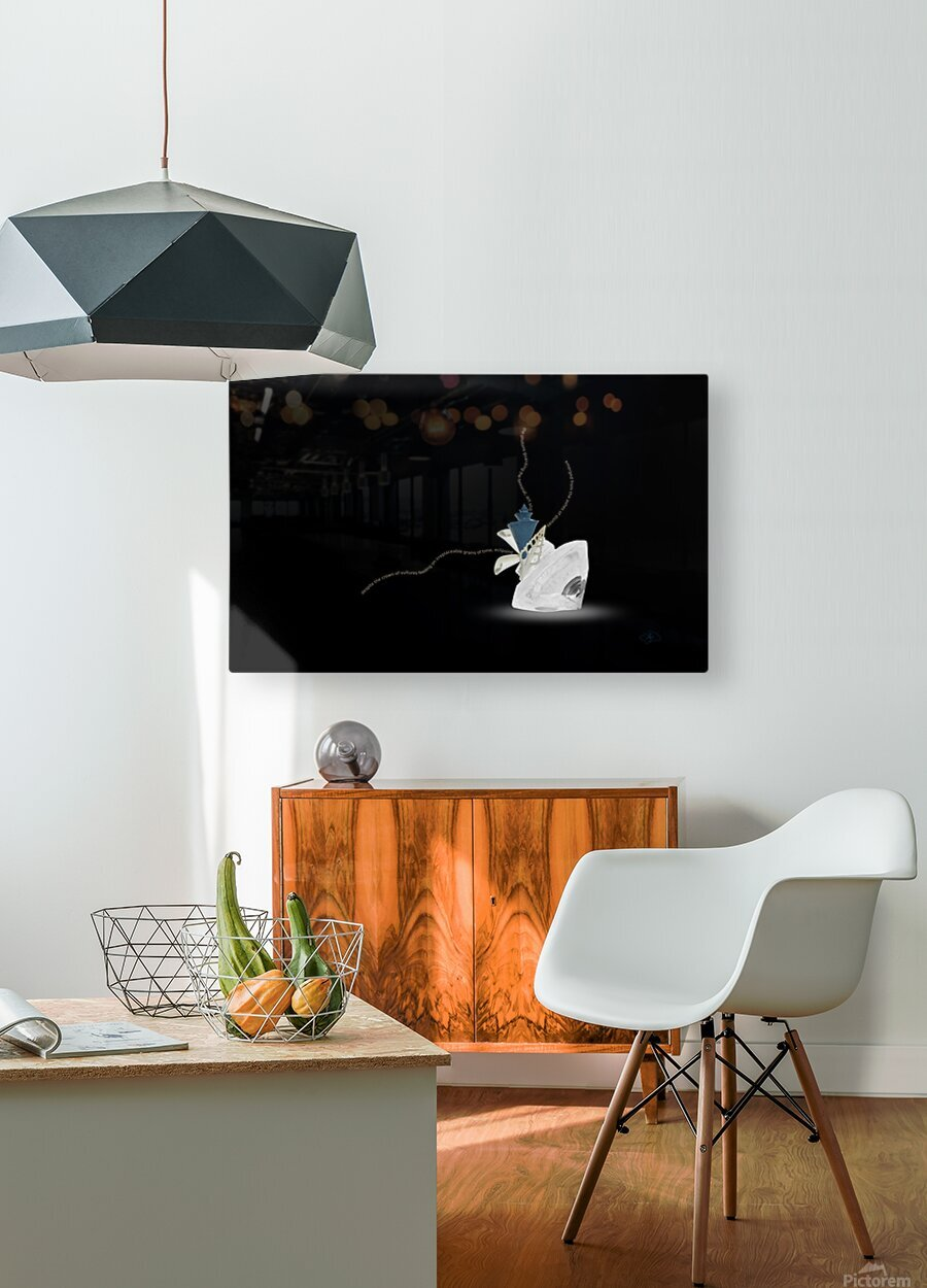 Egress  HD Metal print with Floating Frame on Back