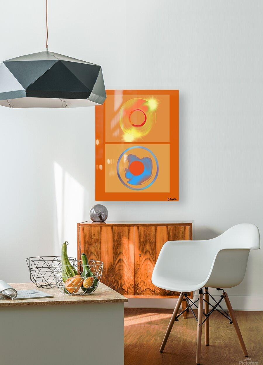 Heat  HD Metal print with Floating Frame on Back