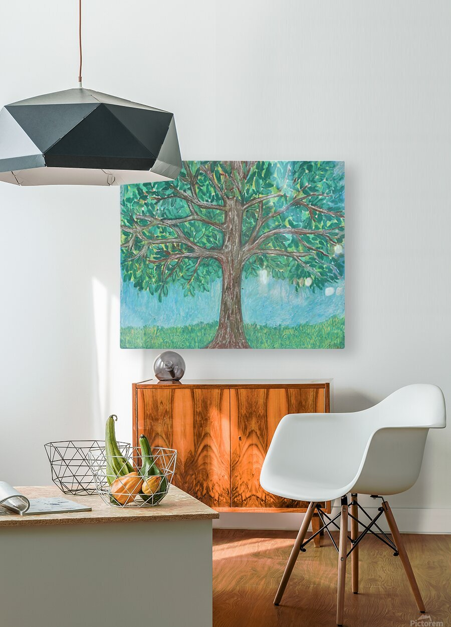 treewalk  HD Metal print with Floating Frame on Back