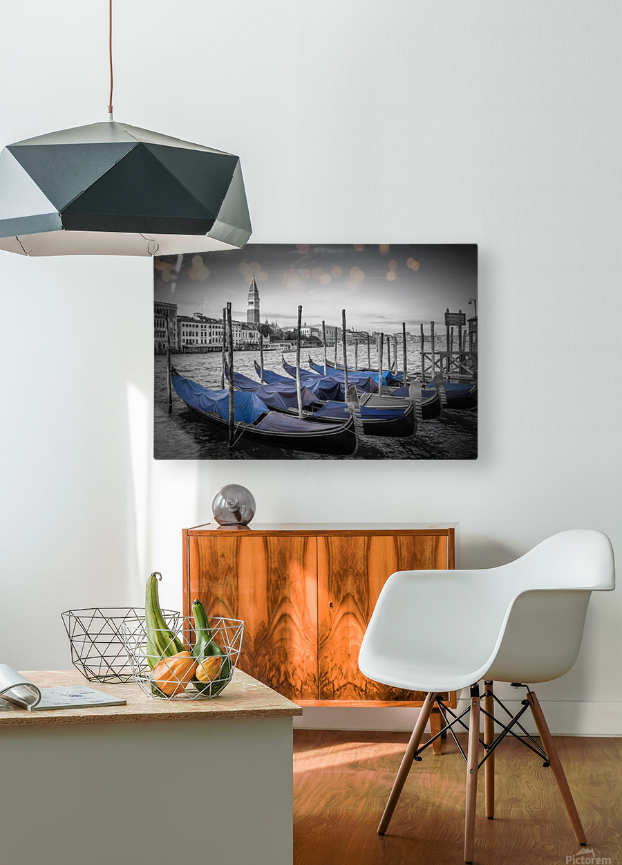 VENICE Grand Canal and St Mark's Campanile  HD Metal print with Floating Frame on Back
