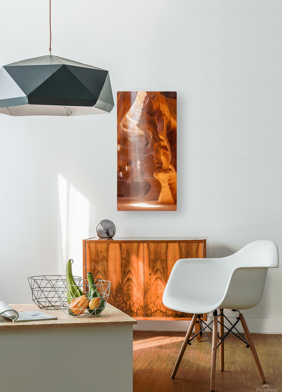 Beautiful Antelope Canyon Panoramic View  HD Metal print with Floating Frame on Back