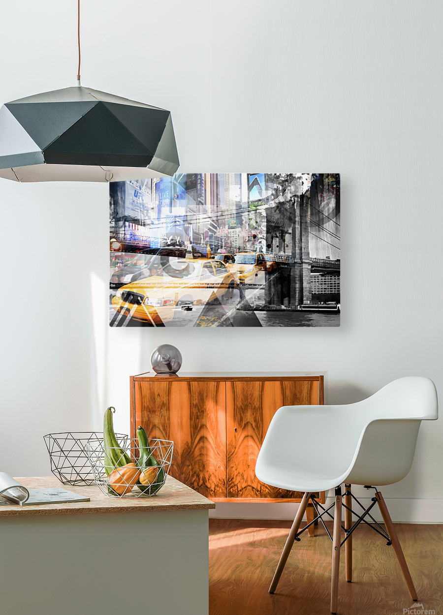 New York City Geometric Mix No. 9  HD Metal print with Floating Frame on Back