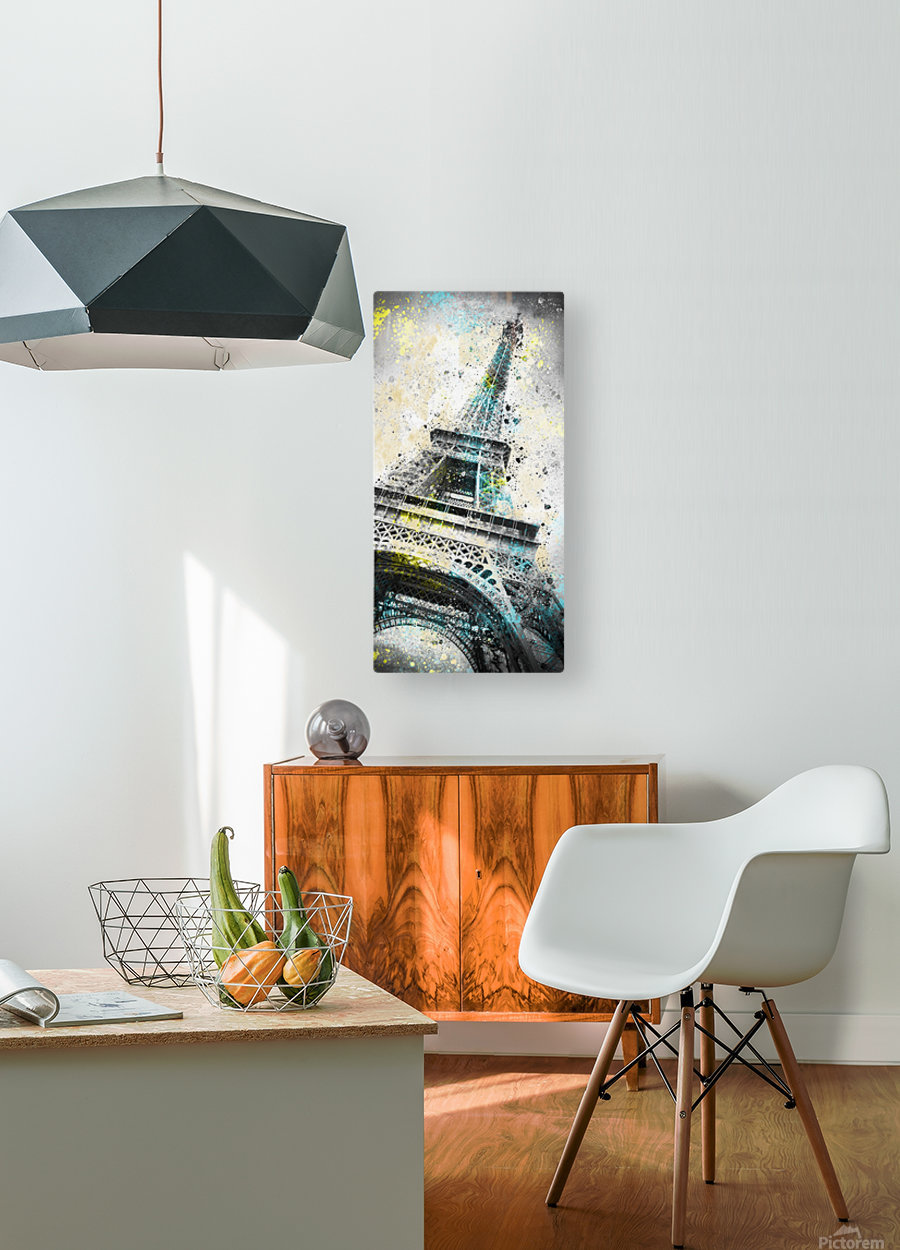 City-Art PARIS Eiffel Tower IV  HD Metal print with Floating Frame on Back