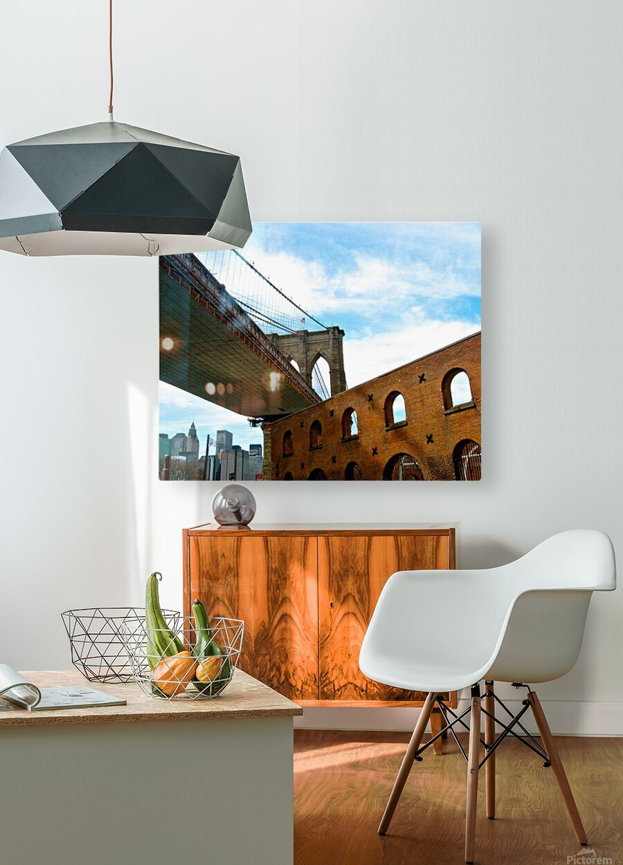 Old Fulton Street   HD Metal print with Floating Frame on Back