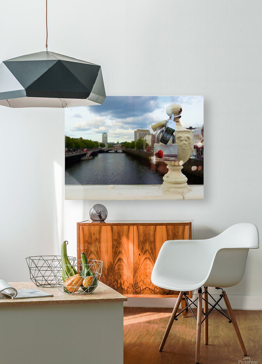 Love Dublin   HD Metal print with Floating Frame on Back
