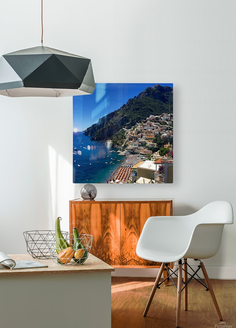 Positano Italy  HD Metal print with Floating Frame on Back