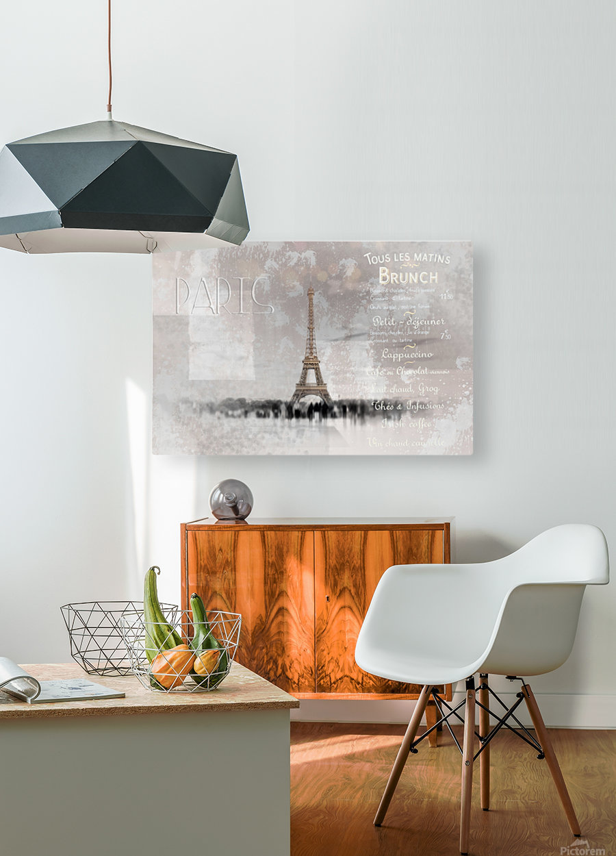 Digital-Art Eiffel Tower II  HD Metal print with Floating Frame on Back
