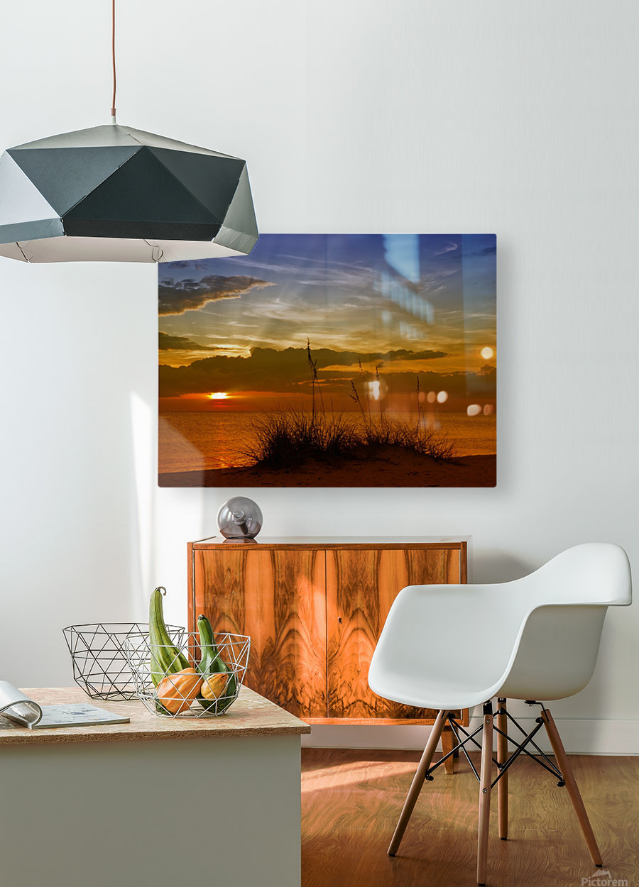 Gorgeous Sunset  HD Metal print with Floating Frame on Back