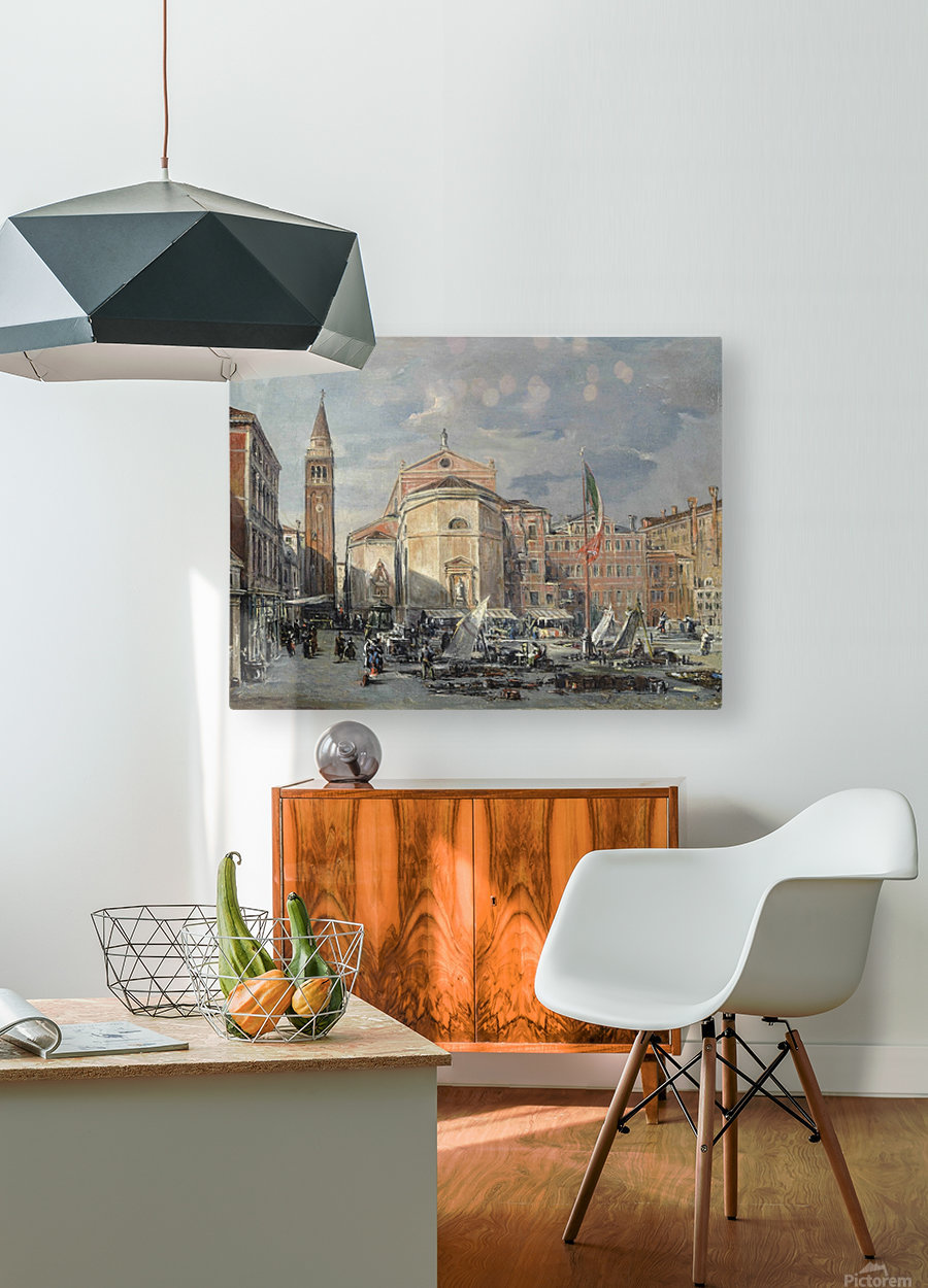 A Venetian square  HD Metal print with Floating Frame on Back