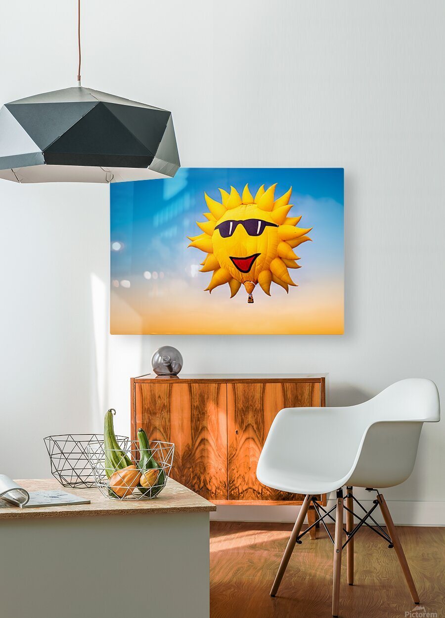 Forecast Clear and Sunny  HD Metal print with Floating Frame on Back