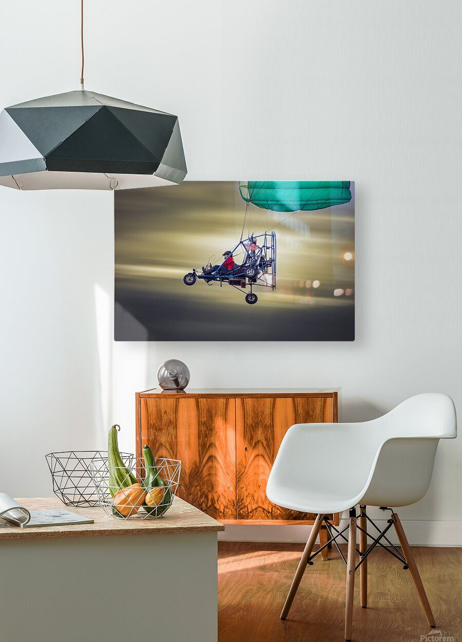 Just Passing Through  HD Metal print with Floating Frame on Back