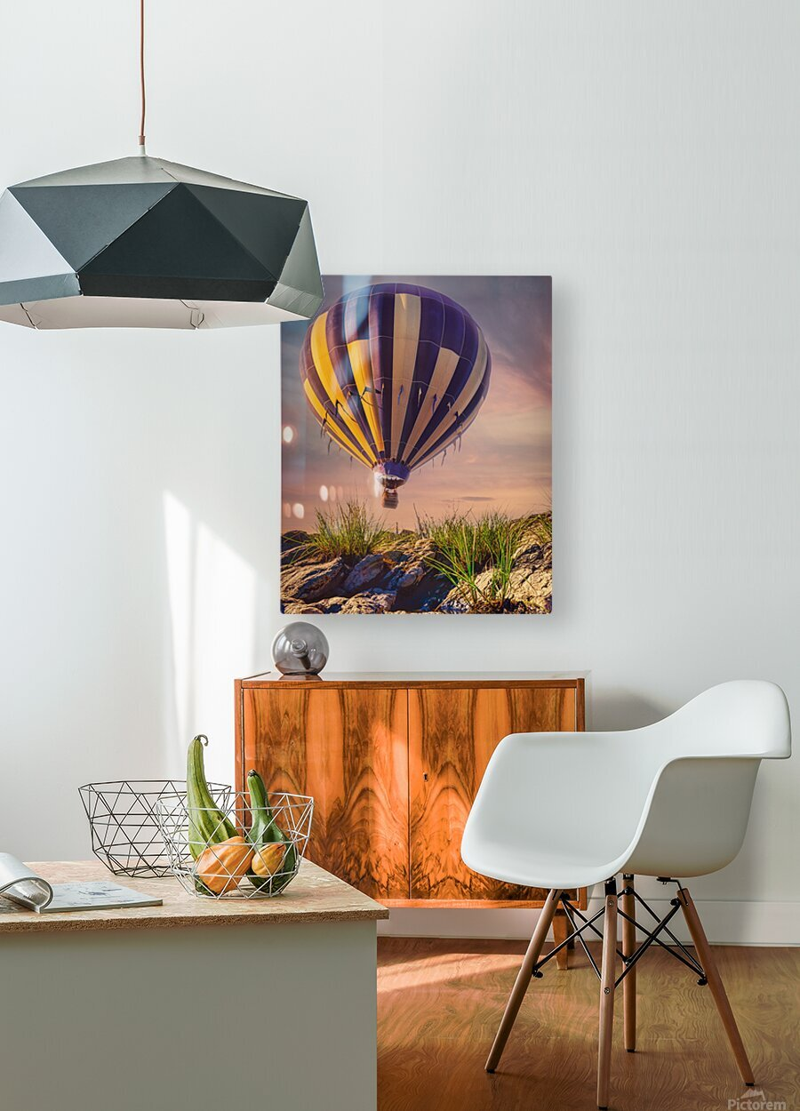 The Adventure Begins  HD Metal print with Floating Frame on Back