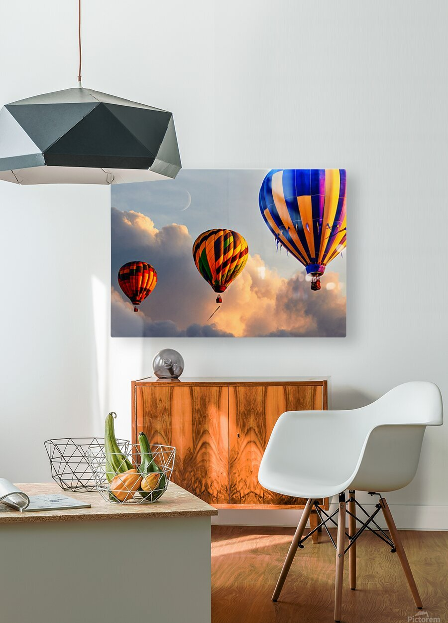Sunrise Alignment  HD Metal print with Floating Frame on Back