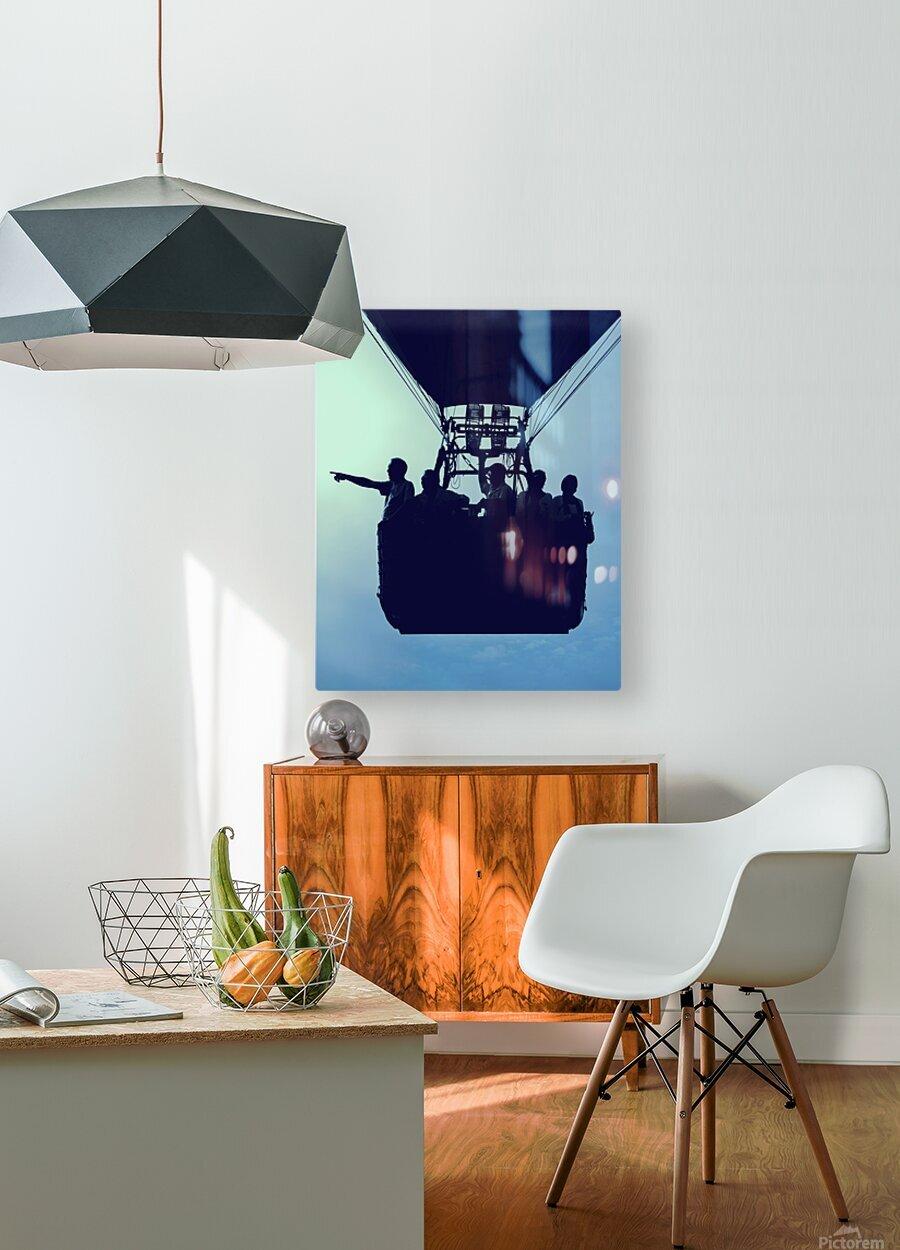 Basket Full Of Aeronauts  HD Metal print with Floating Frame on Back