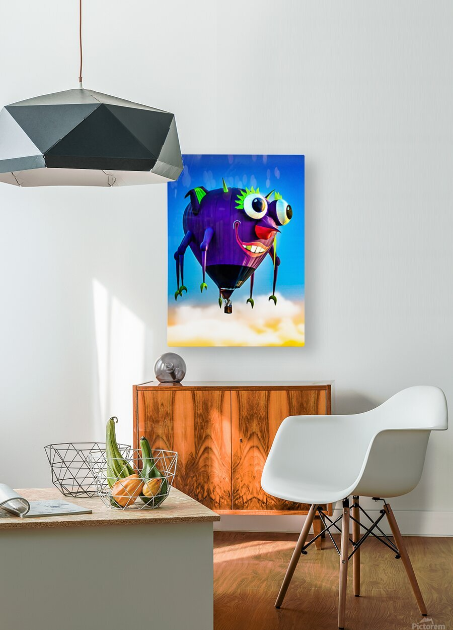 Flying Purple People Eater  HD Metal print with Floating Frame on Back