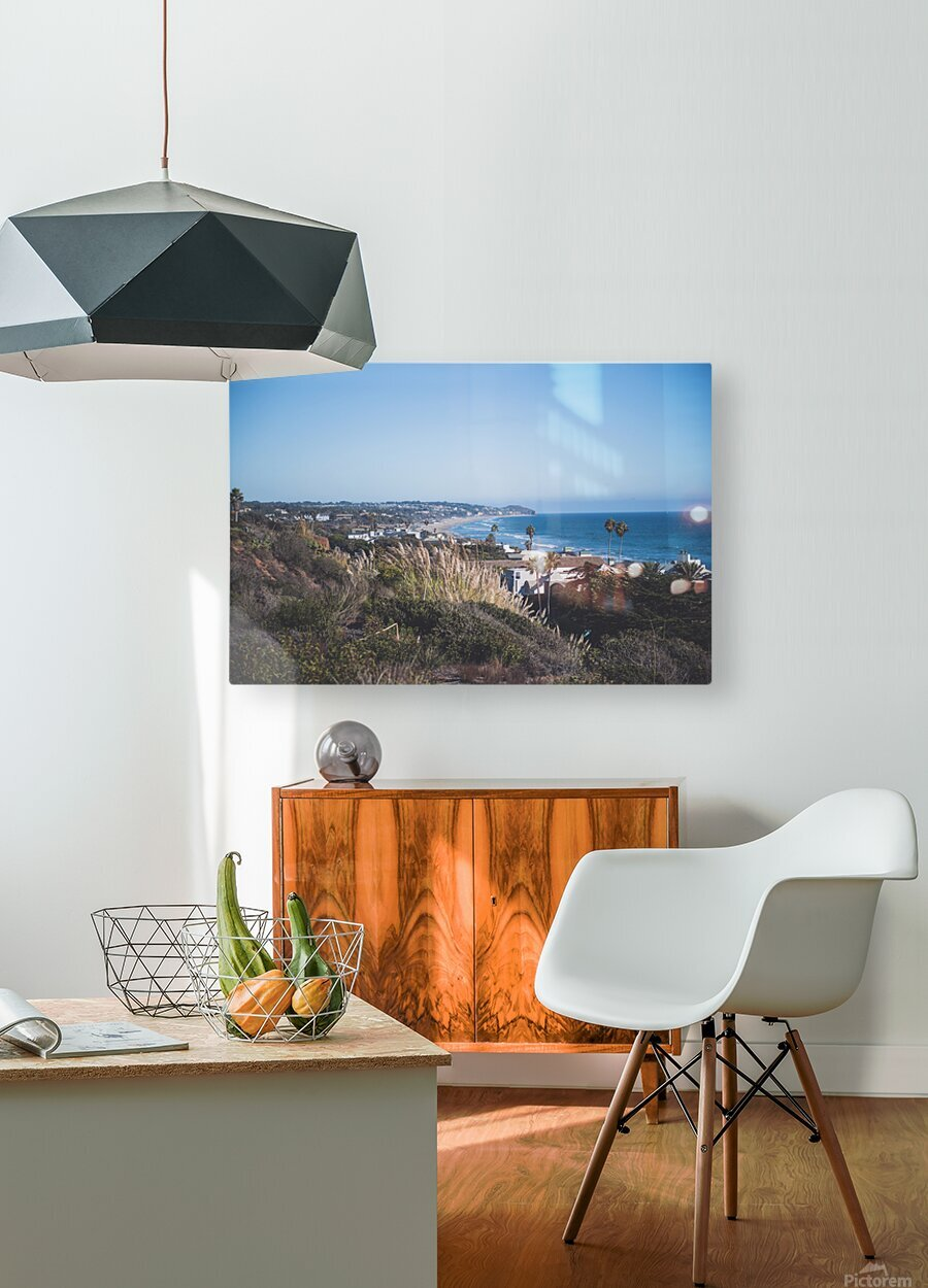 Malibu California  HD Metal print with Floating Frame on Back