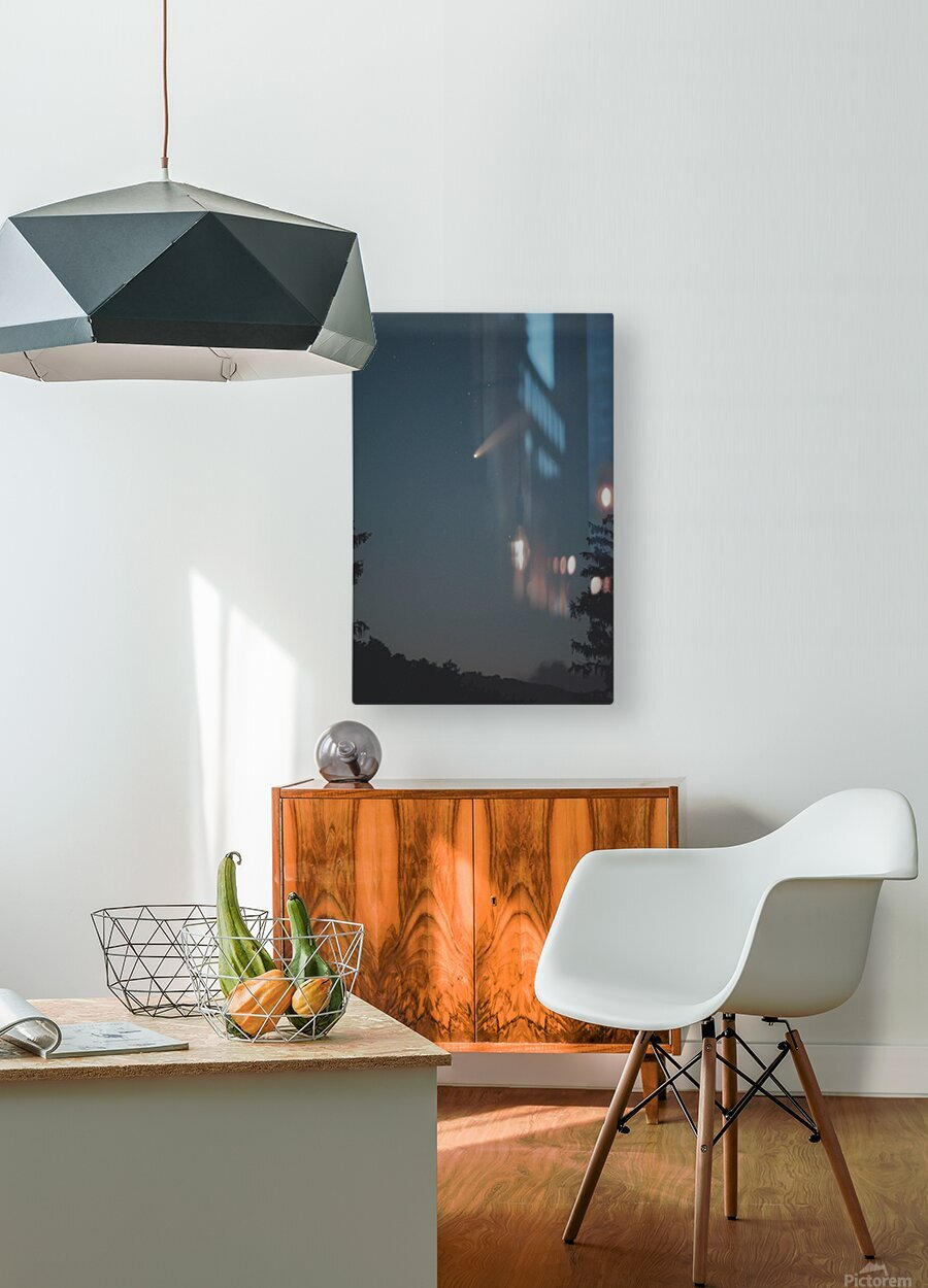 Comet NEOWISE  HD Metal print with Floating Frame on Back