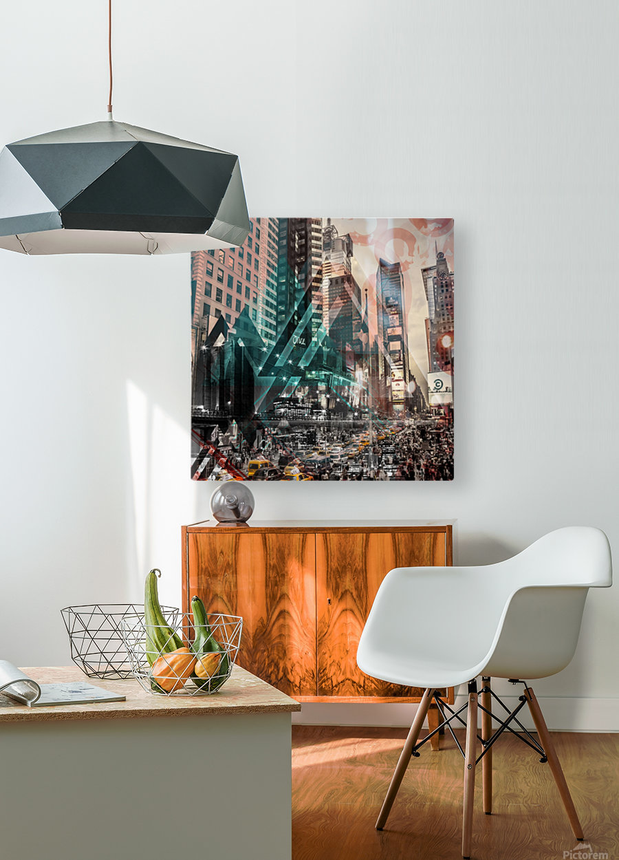 New York City Geometric Mix No. 4  HD Metal print with Floating Frame on Back