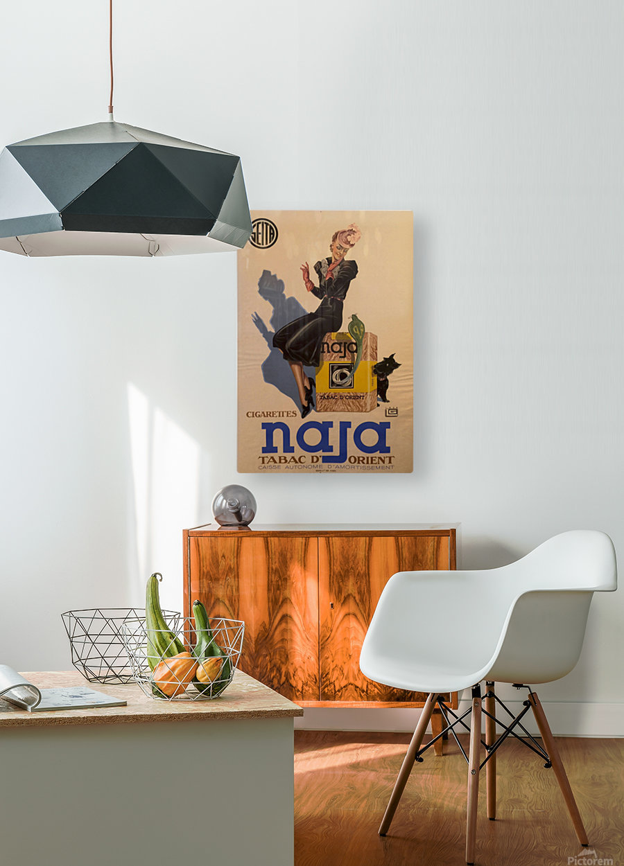Advertisement Poster for Naja by Lelong, 1939  HD Metal print with Floating Frame on Back