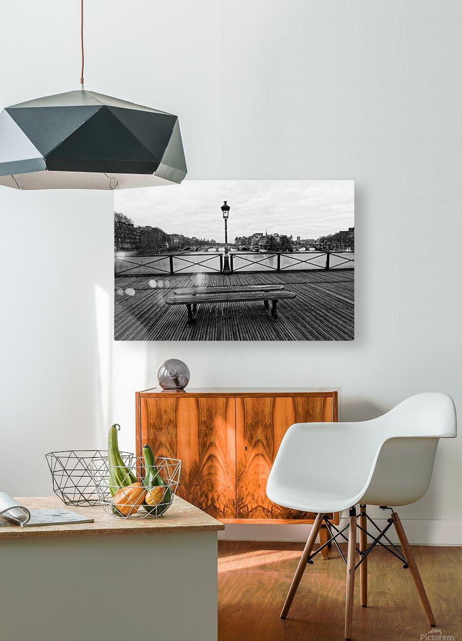 Wooden landscape  Impression métal HD avec cadre flottant sur le dos