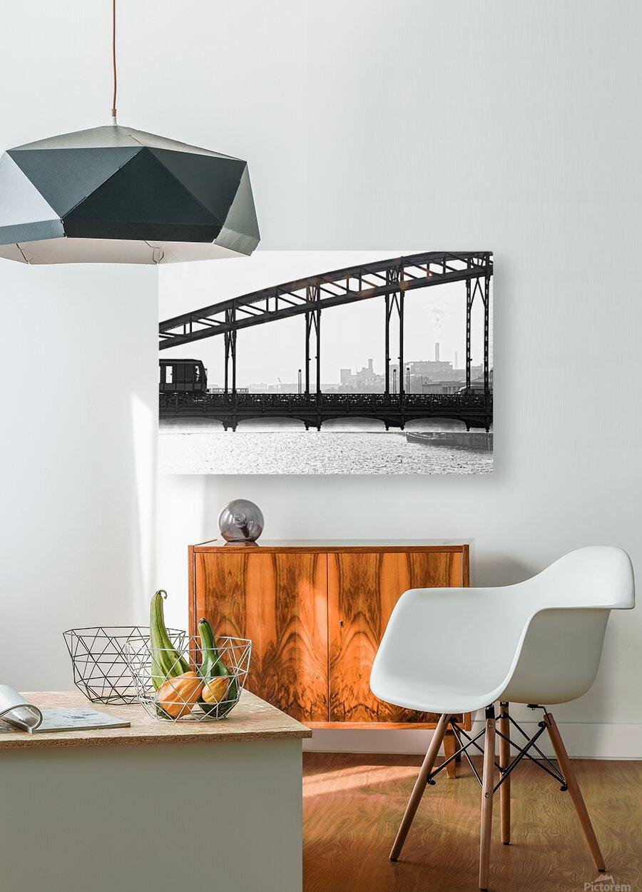 Austerlitz viaduct  Impression métal HD avec cadre flottant sur le dos