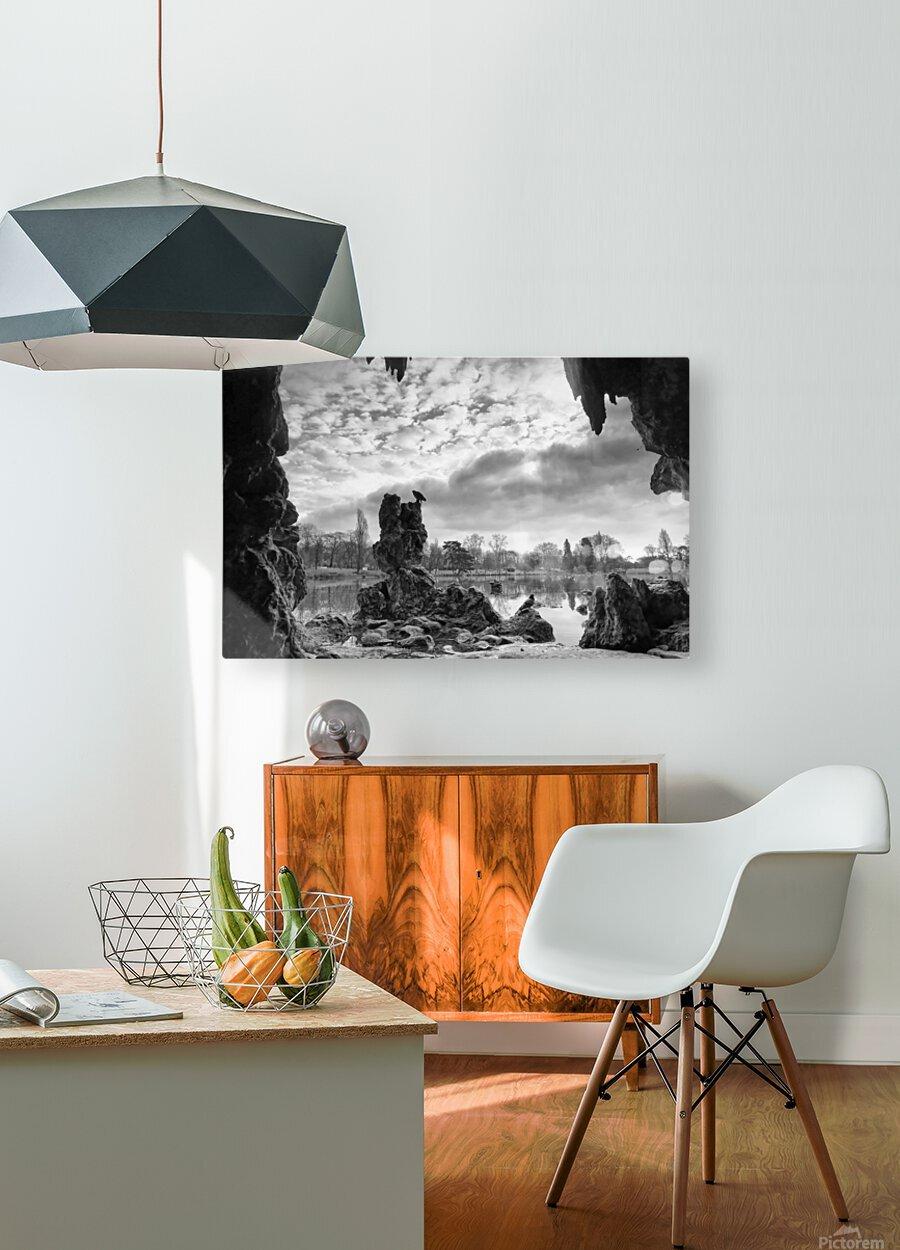 Daumesnil lake  Impression métal HD avec cadre flottant sur le dos