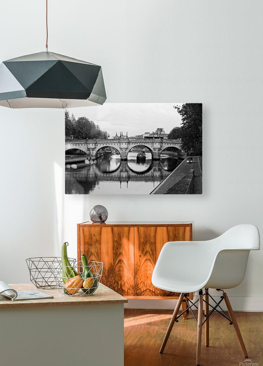 The barge  Impression métal HD avec cadre flottant sur le dos