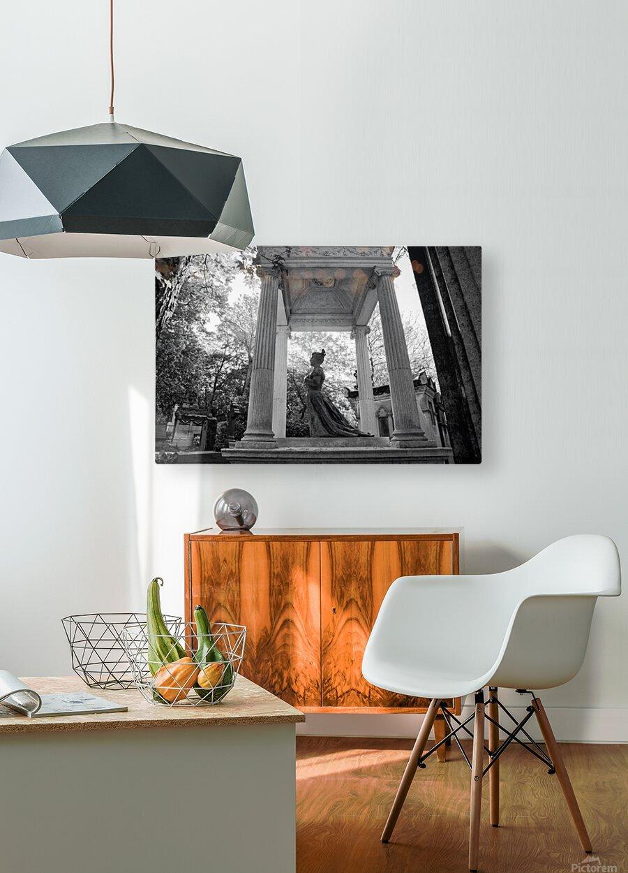 Graveyard lady  Impression métal HD avec cadre flottant sur le dos