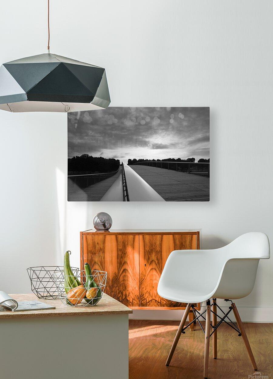 Follow the light  Impression métal HD avec cadre flottant sur le dos