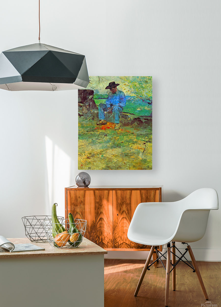 The Young Routy in Celeyran by Toulouse-Lautrec  HD Metal print with Floating Frame on Back