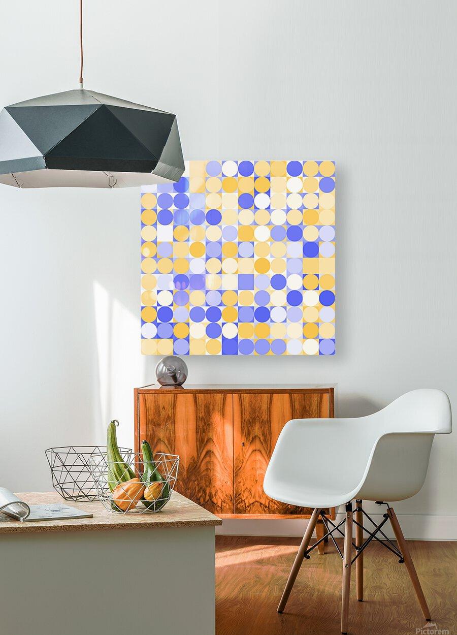 Geometric Art pattern  HD Metal print with Floating Frame on Back