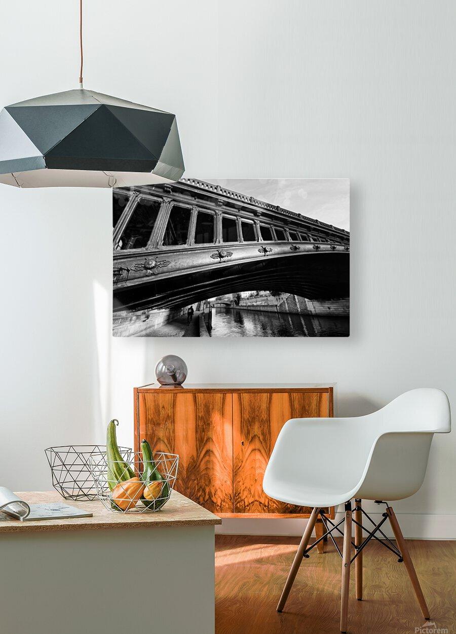 Pont au Double  Impression métal HD avec cadre flottant sur le dos